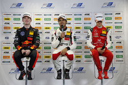 Press conference, Dan Ticktum, Motopark Dallara F317 - Volkswagen, Enaam Ahmed, Hitech Bullfrog GP D