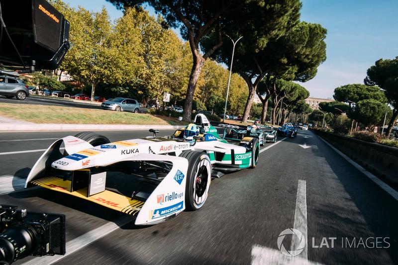 Lucas di Grassi, Audi Sport ABT Schaeffler y Nelson Piquet Jr., Jaguar Racing