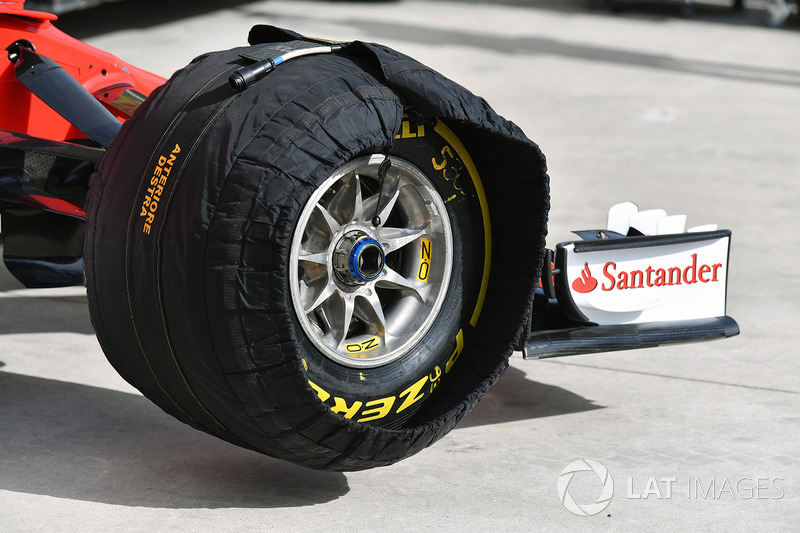 Ferrari SF70H front wheel and Pirelli tyre in blanket