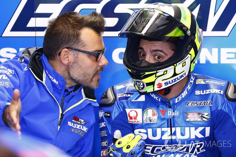 Andrea Iannone et Marco Rigamonti