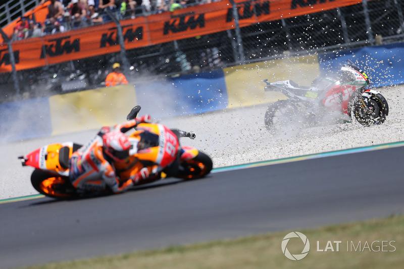 Cal Crutchlow, Team LCR Honda, Marc Marquez, Repsol Honda Team crash