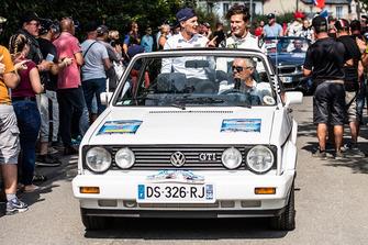 Andreas Bakkerud, EKS Audi Sport, Krisztián Szabó, EKS in a vintage Volkswagen Golf GTI during the parade