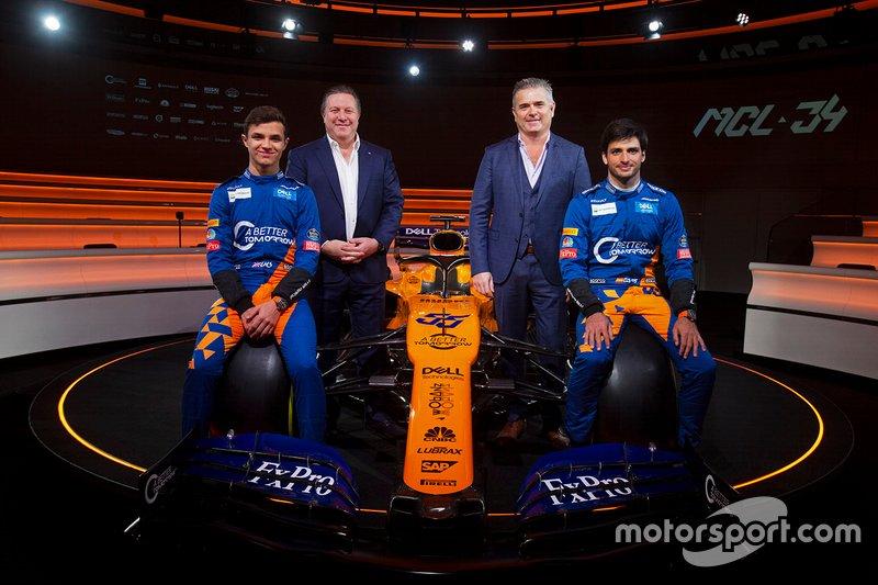 Ландо Норріс, Карлос Сайнс-мол., McLaren, генеральний директор McLaren Racing Зак Браун