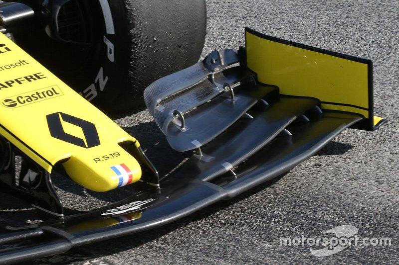 Renault F1 Team, detalle técnico del morro