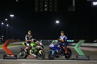 Superbike-Weltmeister 2018: Jonathan Rea, Kawasaki Racing; Supersport-Weltmeister 2018: Sandro Cortese, Kallio Racing