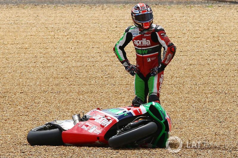 1. Sam Lowes, Aprilia Racing Team Gresini (MotoGP): 31 quedas
