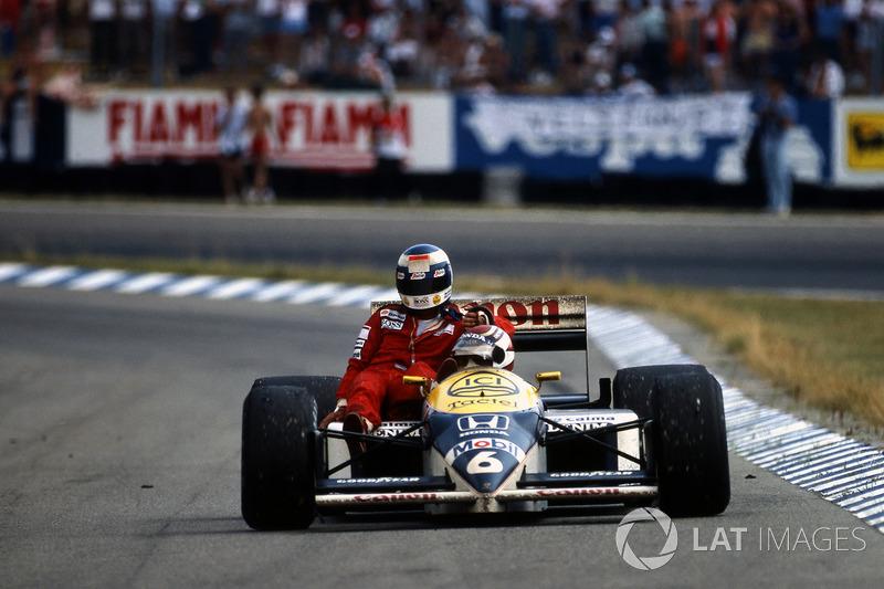 Hockenheim 1986 : Nelson Piquet (Williams) ramène Keke Rosberg (McLaren)