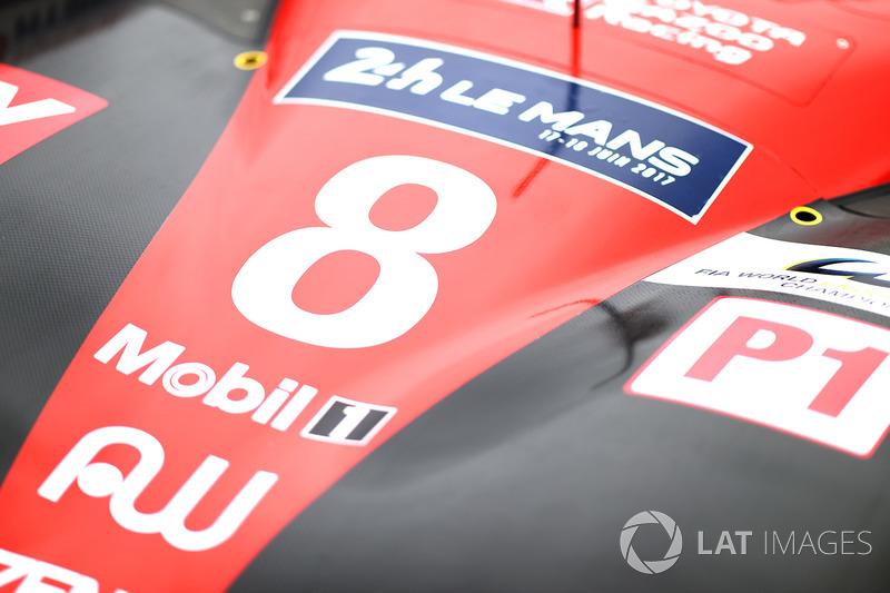 #8 Toyota Gazoo Racing Toyota TS050 Hybrid: Anthony Davidson, Sébastien Buemi, Kazuki Nakajima, dett