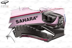 Force India VJM10 bargeboard, Bahrain GP