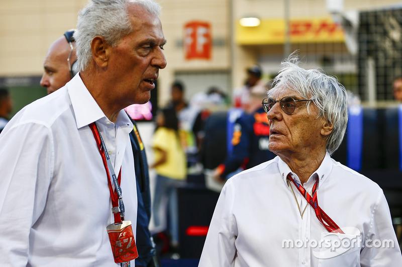Marco Tronchetti Provera, Executive Vice Chairman and Chief Executive Officer, Pirelli, Bernie Ecclestone, Chairman Emiritus of Formula 1