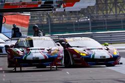 #51 AF Corse, Ferrari 488 GTE: James Calado, Alessandro Pier Guidi; #71 AF Corse, Ferrari 488 GTE: Davide Rigon, Sam Bird