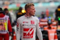 Kevin Magnussen, Haas F1 Team in parc ferme