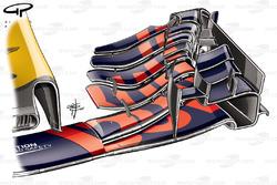 Red Bull RB13 ala delantera, coche de Max Verstappen, GP de Bélgica