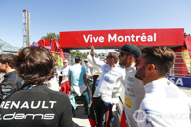 Maro Engel, Venturi, Daniel Abt, ABT Schaeffler Audi Sport, y Jose Maria Lopez, DS Virgin Racing,en