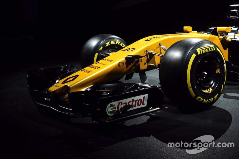 De voorzijde van de nieuwe Renault F1-bolide