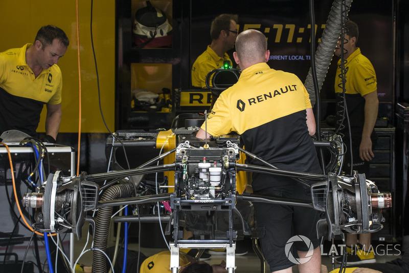 Suspension avant de la Renault Sport F1 Team RS17