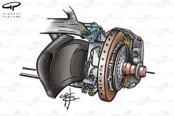McLaren MP4-15 front brake duct (long inlet)