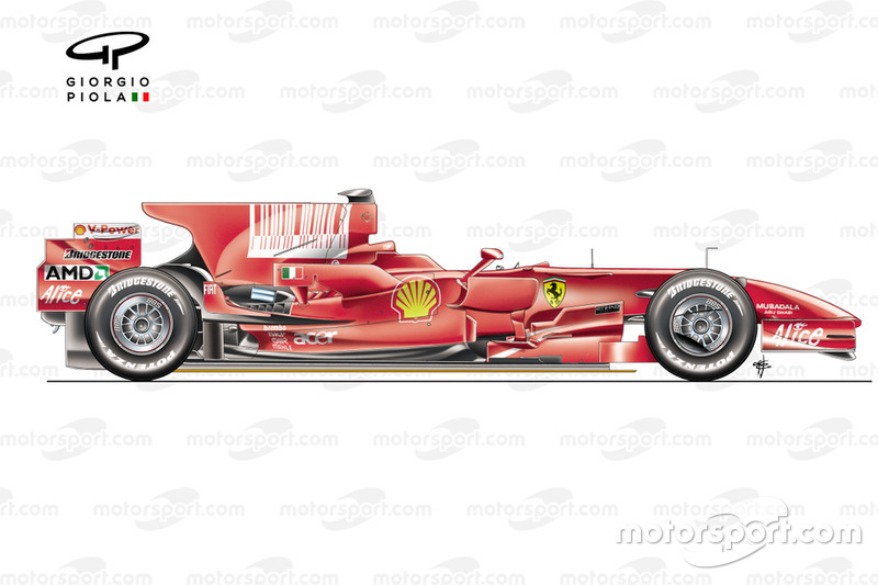 Ferrari F2008 (659) 2008 side view