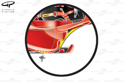 Ferrari F60 bargeboard region, legality of Ferrari and Red Bull's designs contested by Williams and