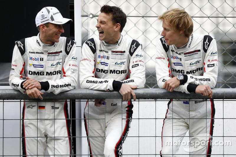 Timo Bernhard, Earl Bamber, Brendon Hartley, Porsche Team
