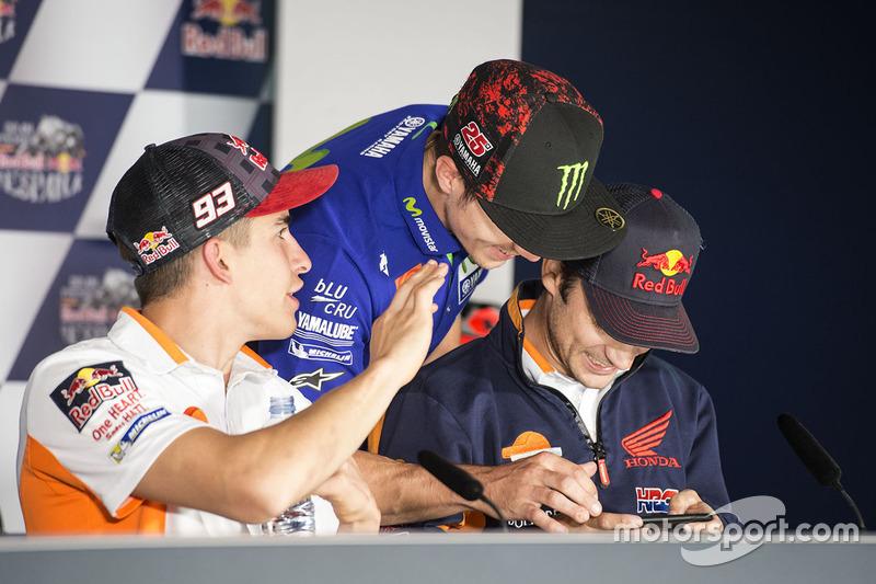 Dani Pedrosa, Repsol Honda Team, Maverick Viñales, Yamaha Factory Racing, Marc Marquez, Repsol Honda