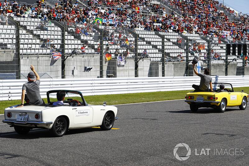 Stoffel Vandoorne, McLaren, in the drivers parade
