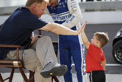 America's favorite Indianapolis news legend, Dave Furst, with Tony Kanaan, Chip Ganassi Racing Honda and son Deco