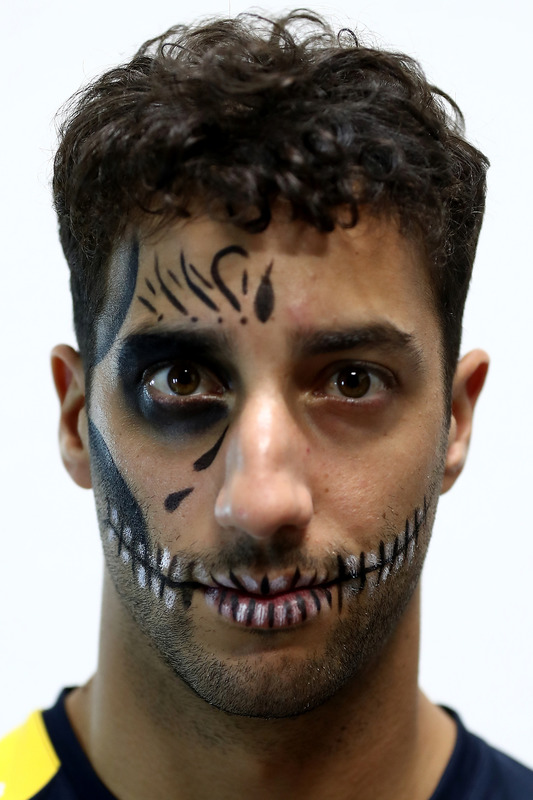 Daniel Ricciardo, Red Bull Racing joins friends at Puma at the Ofrendomo in Mexico City for a Dia de Muertos themed night
