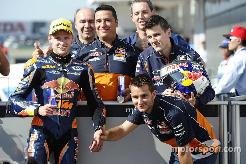 Third place Brad Binder, Red Bull KTM Ajo