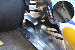Detalle de piso de Sauber C35