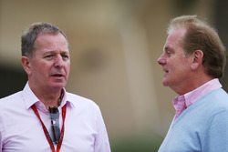 Martin Brundle, Sky Sports Commentator with Jonathan Palmer