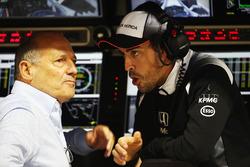 Ron Dennis, McLaren Executive Chairman and Fernando Alonso, McLaren