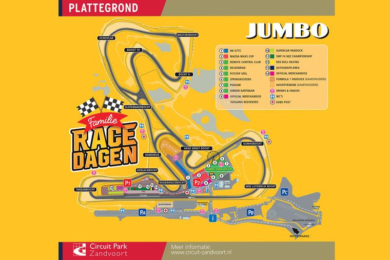 Plattegrond Circuit Park Zandvoort
