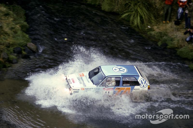 Kenneth Eriksson, Peter Diekmann, VW Golf, bei der Rallye Neuseeland 1986