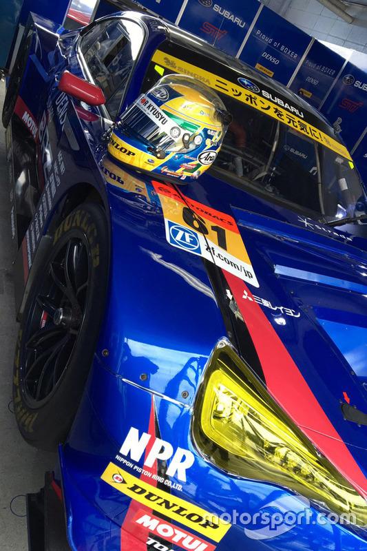 #61 R&D Sport Subaru BRZ: Hideki Yamauchi helmet