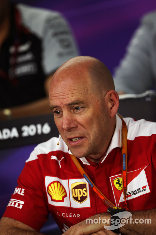 Jock Clear, Ferrari Engineering Director in the FIA Press Conference