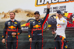 Max Verstappen, Daniel Ricciardo and David Coulthard