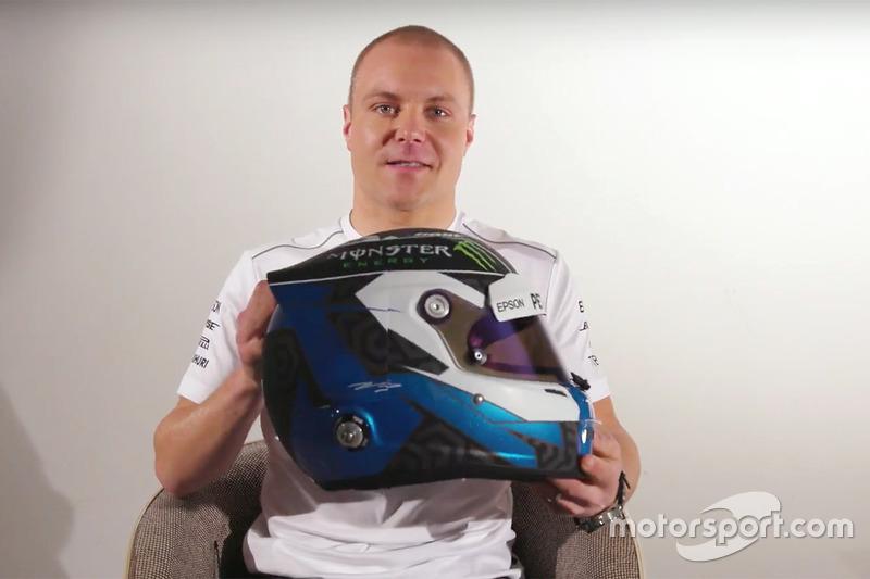 Valtteri Bottas, Mercedes AMG F1 presenta il suo nuovo casco