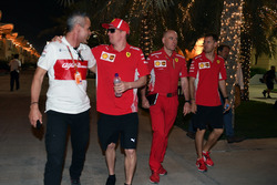 Beat Zehnder, Sauber Manager, Kimi Raikkonen, Ferrari, Jock Clear, Ferrari Chief Engineer and Sebast
