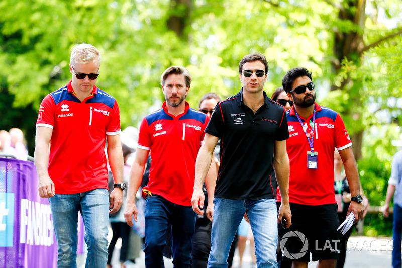 Felix Rosenqvist, Mahindra Racing, Nick Heidfeld, Mahindra Racing, Jérôme d'Ambrosio, Dragon Racing