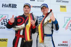 Podium: #969 Porsche Cayman GT4 CS: Michael Rebhan, Moritz Kranz