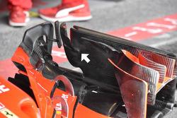 Kimi Raikkonen, Ferrari SF71H front wing detail