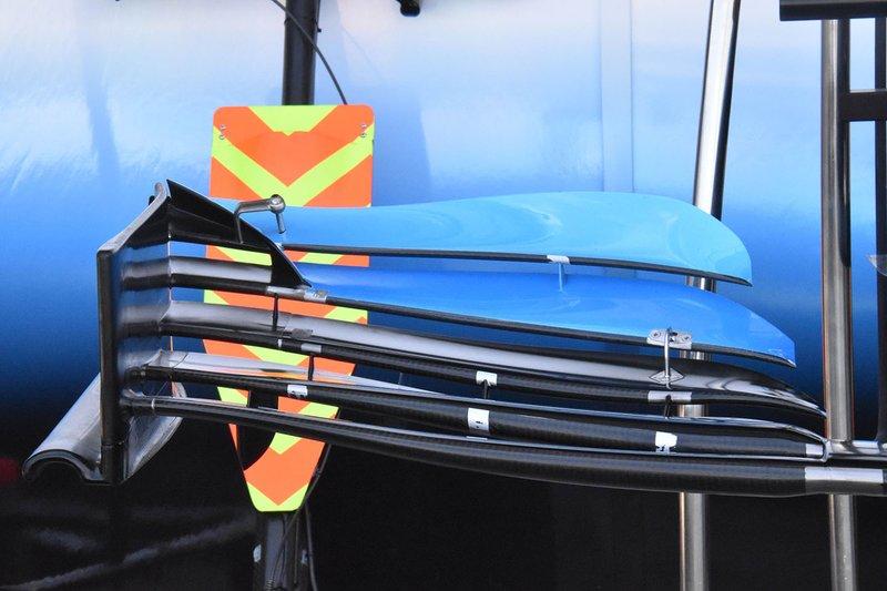 Detalle del alerón delantero del Williams FW42