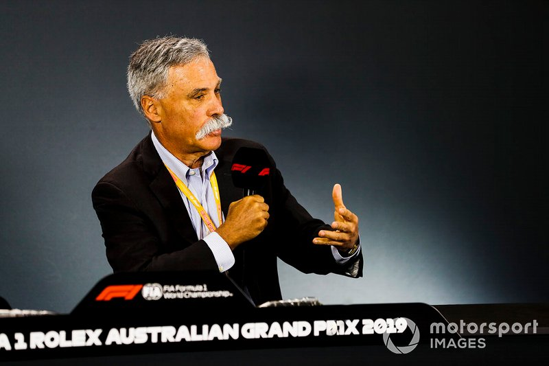 Chase Carey, Chairman, Formula 1, in a Press Conference