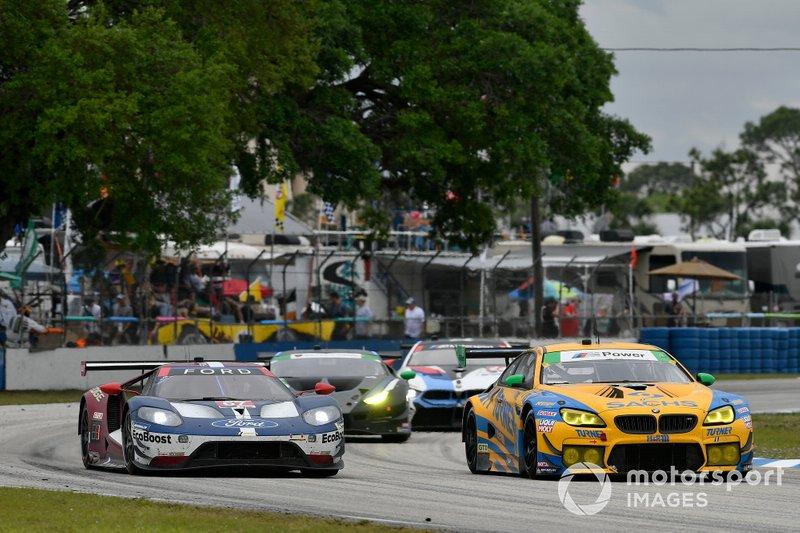 #96 Turner Motorsport BMW M6 GT3: Bill Auberlen, Robby Foley, Dillon Machavern, #67 Ford Chip Ganassi Racing Ford GT: Ryan Briscoe, Richard Westbrook, Scott Dixon