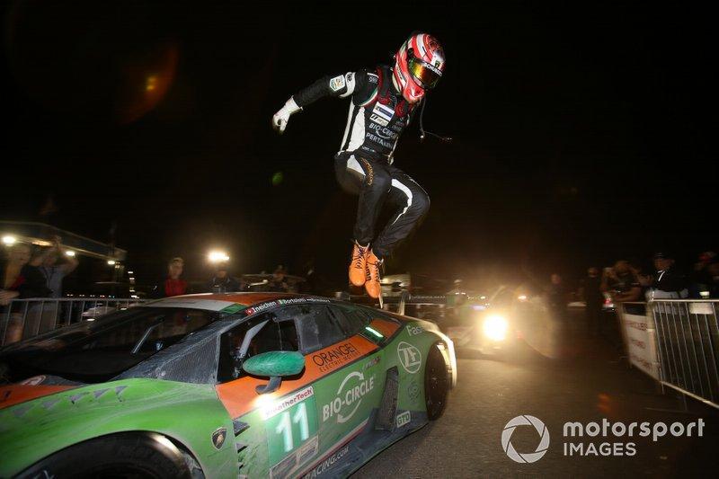 Race winner GTD: #11 GRT Grasser Racing Team Lamborghini Huracan GT3: Mirko Bortolotti