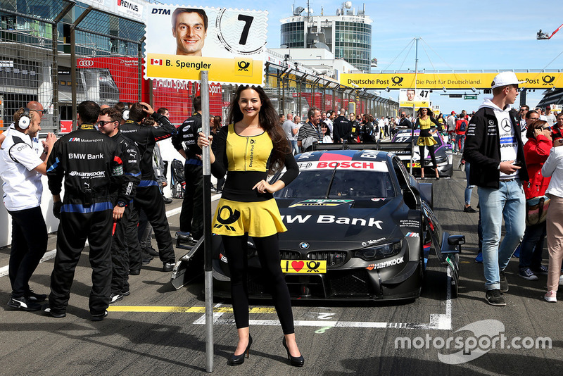 Grid girl of Bruno Spengler, BMW Team RBM