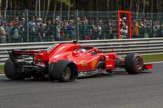 Kimi Raikkonen, Ferrari SF71H so zadnou punkciou na kole jeden