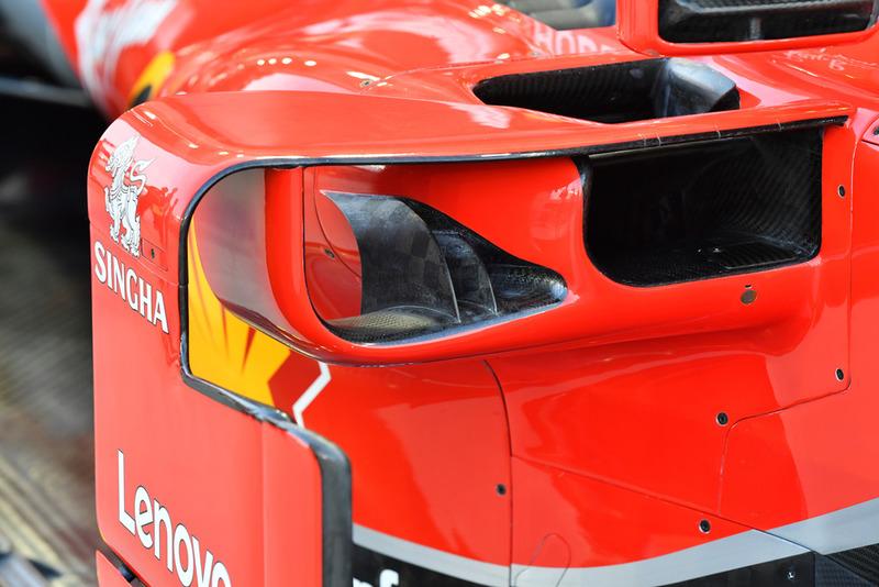 Детали воздухозаборников понтона Ferrari SF71H