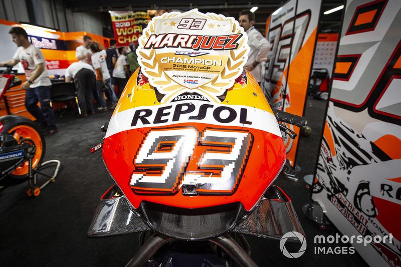 Marc Marquez, Repsol Honda Team detalle de la moto
